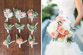Coral Boutonniere 10 Gorgeous Wedding Boutonnieres For Spring Mywedding