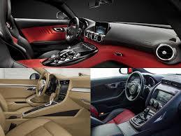 jaguar f type vs porsche 911 mercedes amg gt vs porsche 911 vs jaguar f type interior battle