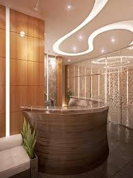 Spa Reception Desk Interior Design Spa Reception Desk Wooden Brown Ideas