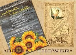 custom bridal shower invitations sunflowers rustic wood couples shower invitation bridal shower
