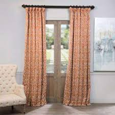 Orange And White Curtains Orange Curtains Drapes Window Treatments The Home Depot