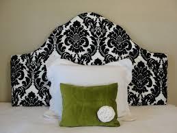 bedroom lovely tufted upholstered headboard black and white