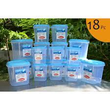 buy chetan set of 18 pcs plastic airtight kitchen storage