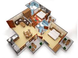 2 bhk flats design interesting apartment bedroom house plans with