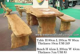 Handmade Wooden Outdoor Furniture by Wood Dining Table Furniture Indonesia Outdoor Patio Garden Table