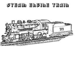 Steam Locomotive Coloring Pages Steam Engine Train On Railroad Coloring Page Color Luna by Steam Locomotive Coloring Pages