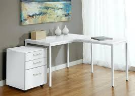 White Parsons Desk Desk Modern White L Shaped Corner Parsons Desk With Mobile File