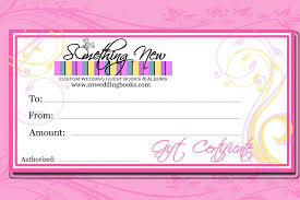custom gift certificates wedding gift certificates unique wedding guest books by