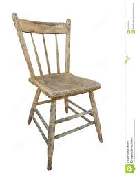 Vintage Wooden Chair Old Wooden Kitchen Chair Isolated Stock Photo Image 41539333