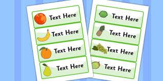 editable fruit editable drawer peg name labels fruit resource labels