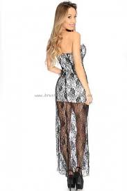 sexi maxi dresses dresses black white plunging sweetheart floral lace maxi