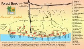 South Coast Plaza Map Hilton Head Map Sunset Rentals Vacation Rentals