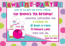 Invitation Card Birthday Design Bowling Birthday Party Invitations For You Thewhipper Com