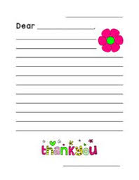 printable thank you cards with lines for children to write on and