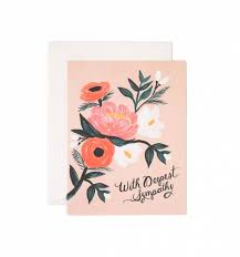 sympathy cards with deepest sympathy greeting card by rifle paper co made in usa