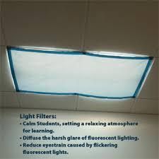 fluorescent light covers fabric classroom lights filters item no 9058