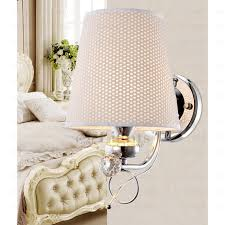 Country Sconces Country Fabric Material Shade Wrought Iron Wall Sconces