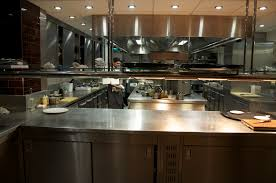 plain restaurant kitchen design layout ideas with incredible setup