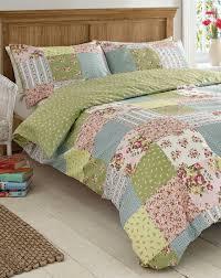 Bedding Cover Sets by Elsie Patchwork Print Duvet Cover Set House Of Bath