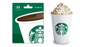 starbuck gift card deal go go go 25 00 starbucks gift card for 10 00