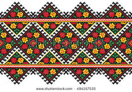 ukraine pattern vector embroidered good like old handmade crossstitch stock vector hd