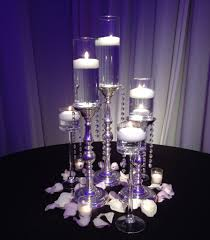 wedding reception table decorations with candles centerpieces for