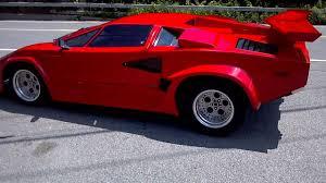 fiero kit car lamborghini 1988 lambo countach kit car driving away