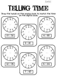 telling time assessment worksheet telling time activities picmia