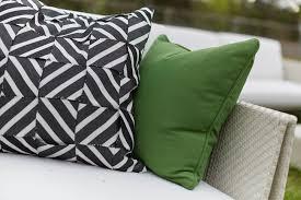 Sunbrella Outdoor Cushion Living Room Sunbrella Outdoor Throw Pillow With Brown Modern Sofa