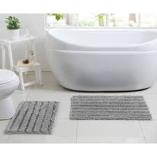 Gray Bathroom Rug Sets Better Homes And Gardens Chenille Noodle 2 Piece Bath Rug Set