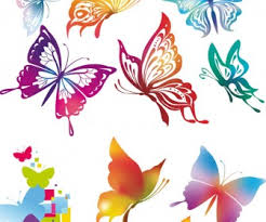 abstract butterflies illustrations vector free stock vector