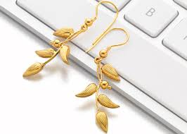 gold earrings design with weight buy gold earrings in pune p n gadgil and sons
