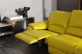 Butter Yellow Sofa China Butter Yellow Color L Shape Leather Sofa China Leather