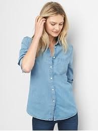 chambray blouse denim clothing for gap