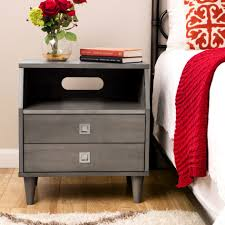 White Painted Oak Furniture Bedroom Furniture White Painted Wooden Nightstand Bed Side