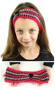 crochet hairband striped pinched crochet headband dabbles babbles