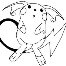 raichu is astonished coloring page color luna