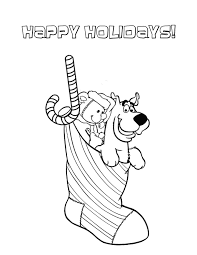 scooby doo printable coloring pages scooby doo in christmas socks coloring page h u0026 m coloring pages