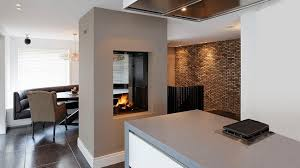 Traditional Double Sided Kitchen Transform Your Spacious Space With A Double Sided Fireplace