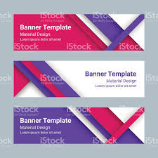 material design ideas set of modern colorful horizontal vector banners material design