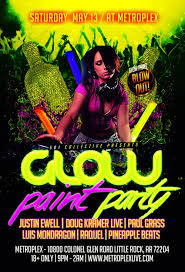 glow paint party 501 collective glow paint party tickets metroplex live
