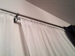 To Make End Decorative Traverse by Decorating Elegant Gold Double Curtain Rods For Modern Interior