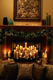 decorations candles ornaments images collections fireplace mantel