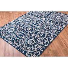 Bright Colored Area Rugs Well Woven Bright Trendy Twist Mediterranean Tile Scrolls Navy
