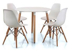 small round table with 4 chairs eiffel small white dining set 90cms round table wood legs 4 chairs
