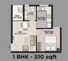 1bhk floor plan 1 bhk house floor plan section pinterest