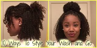 natural hair after five styles natural hair 10 ways to style your wash and go hair mary youtube