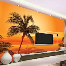 popular wall mural sunset beach buy cheap wall mural sunset beach beibehang custom 3d photo wallpaper southeast asian style beach sunset photography background wall decor wall mural