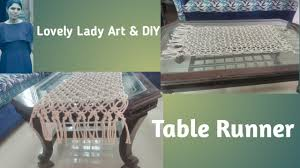 diy how to make macrame table runner table cover super easy