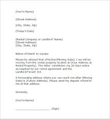 letter of notice to tenant vacate uk template letter idea 2018